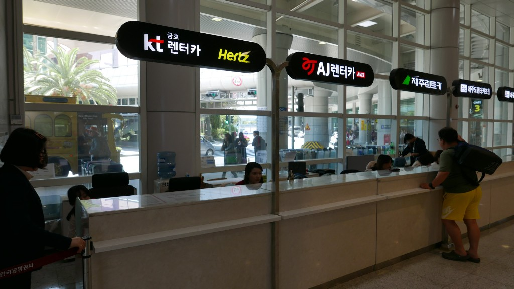 KT Kumho counter at Jeju Airport