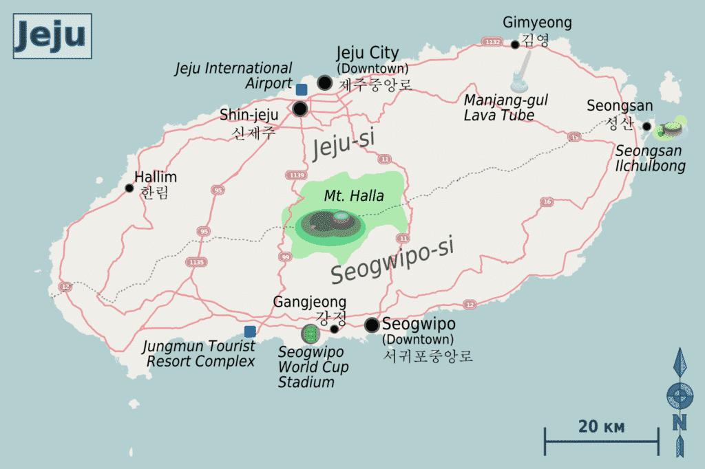 Map of Jeju
