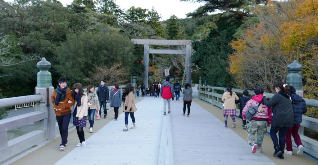 Uji Bridge leading to Jingu Naiku