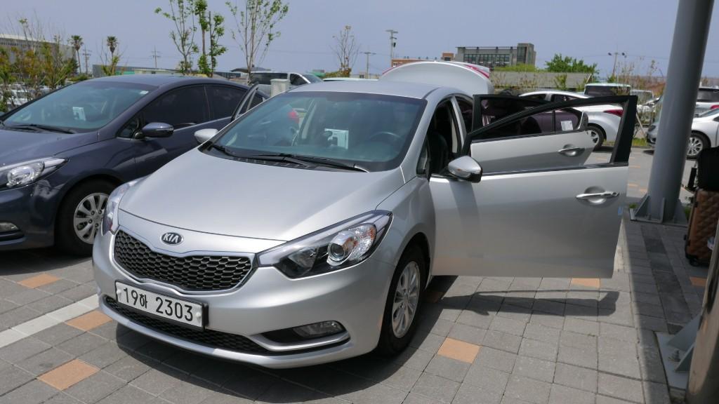 KT Kumho Kia K3 rental car