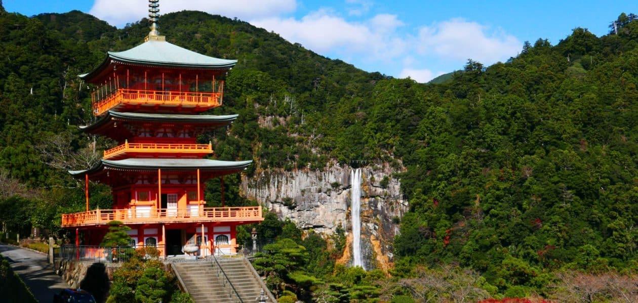 3-storey Pagoda and Nachi Falls