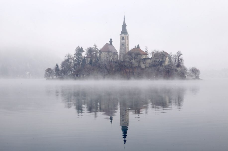 Church of Sv Marika Bozja on Bled Island