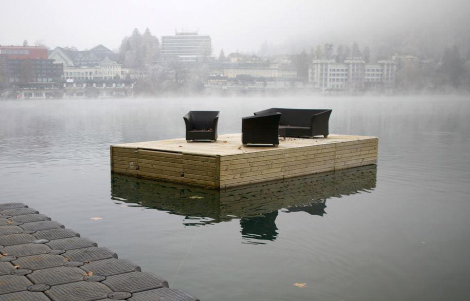 Lake Bled art installation