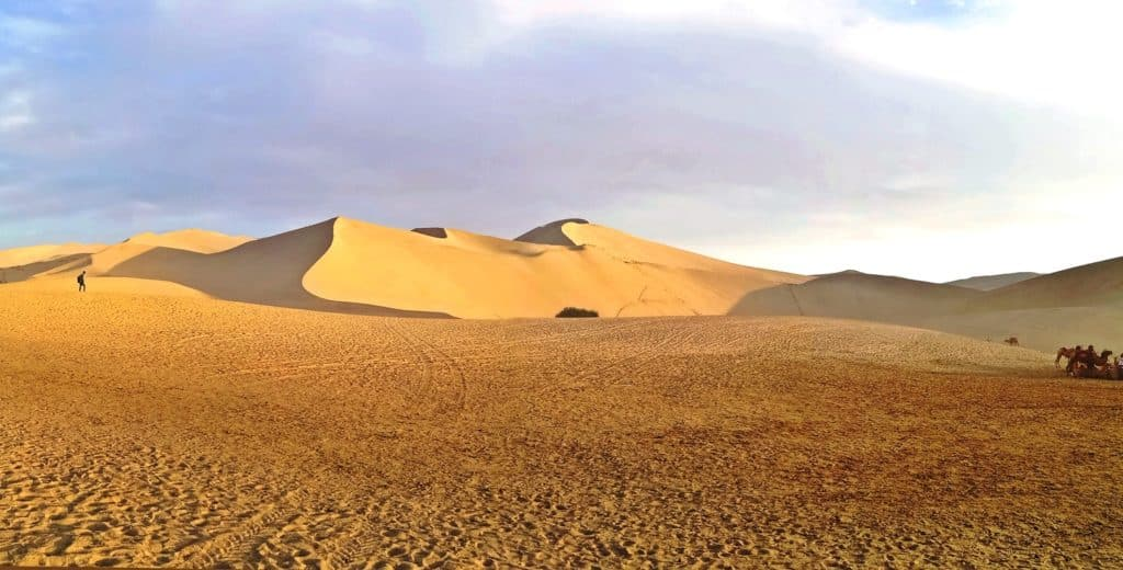 Mingsha Sand Mountain (鸣沙山) of the Gobi Desert