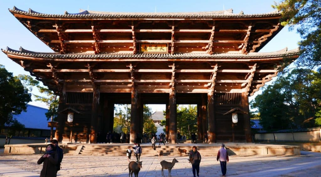 Nandaimon Gate outside Todaiji Temple
