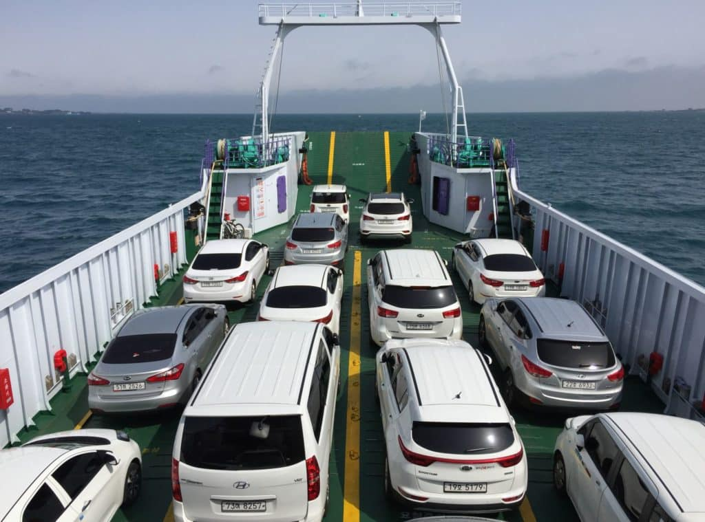 Car ferry to Udo Island