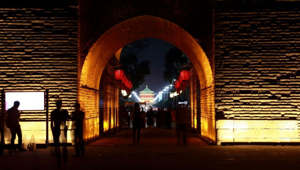 Xian South Gate by night
