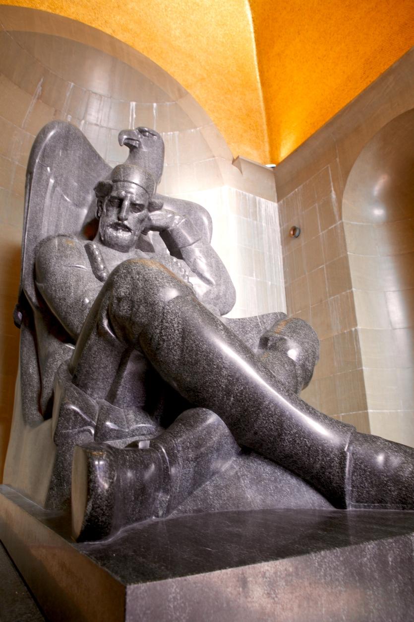 Sculpture of Njegoš by Ivan Meštrović