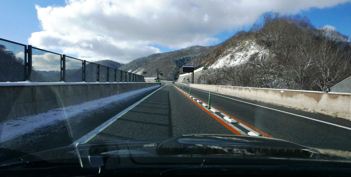 Clear open roads (Central Japan)