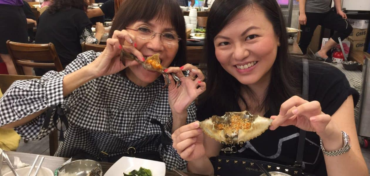 Eating Korean Marinated Raw Crabs