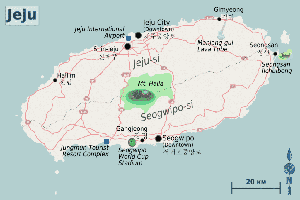 Map of Jeju
