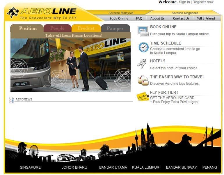 aeroline website