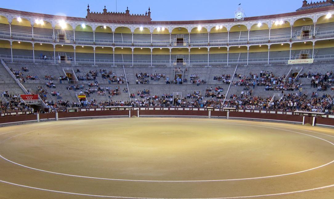 The arena's interior