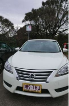 Our Nissan Almera from East Coast Rental