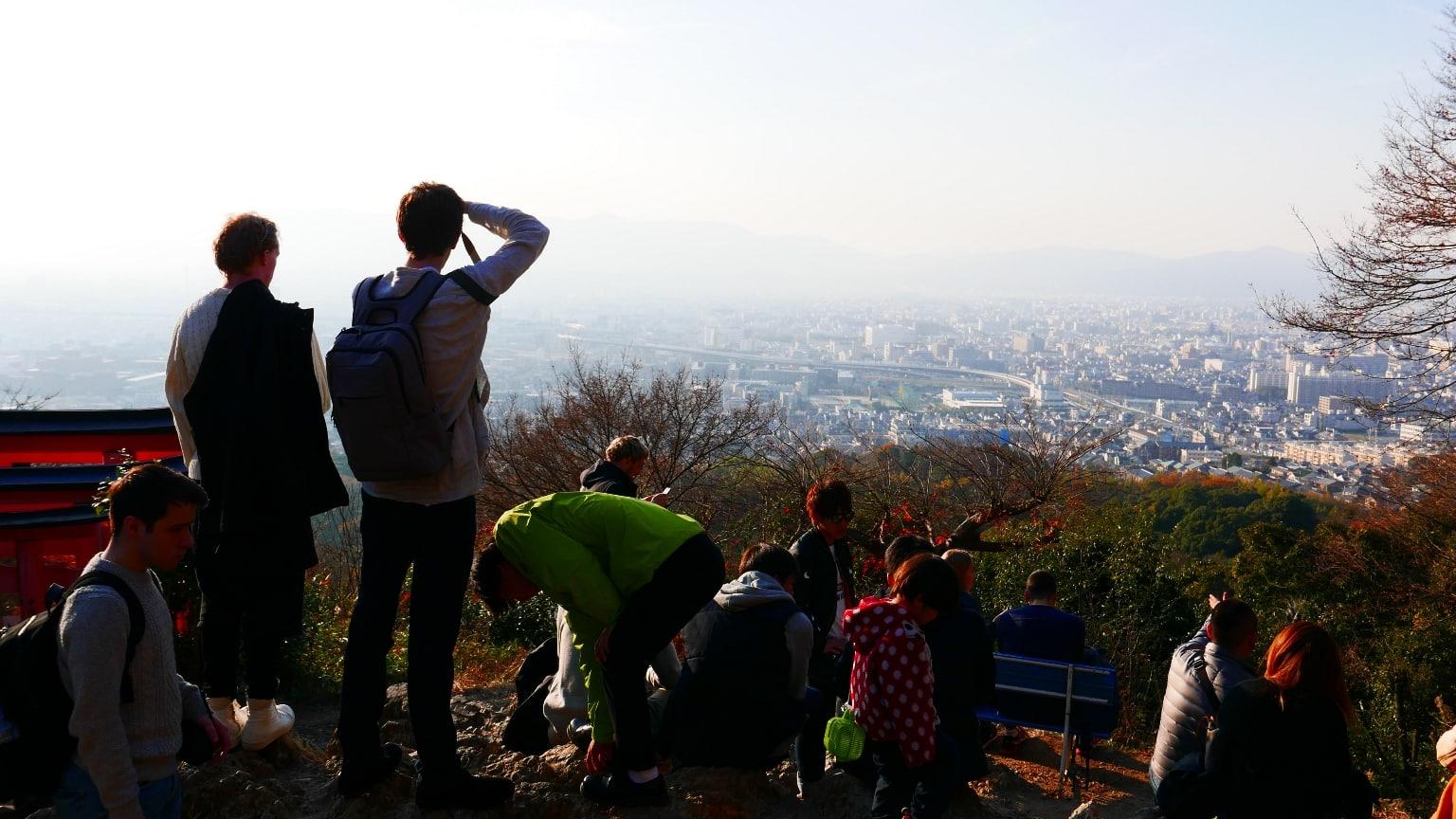Finally at the summit of Mt Inari