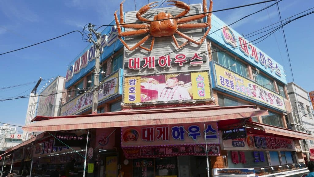 Gijang crab market