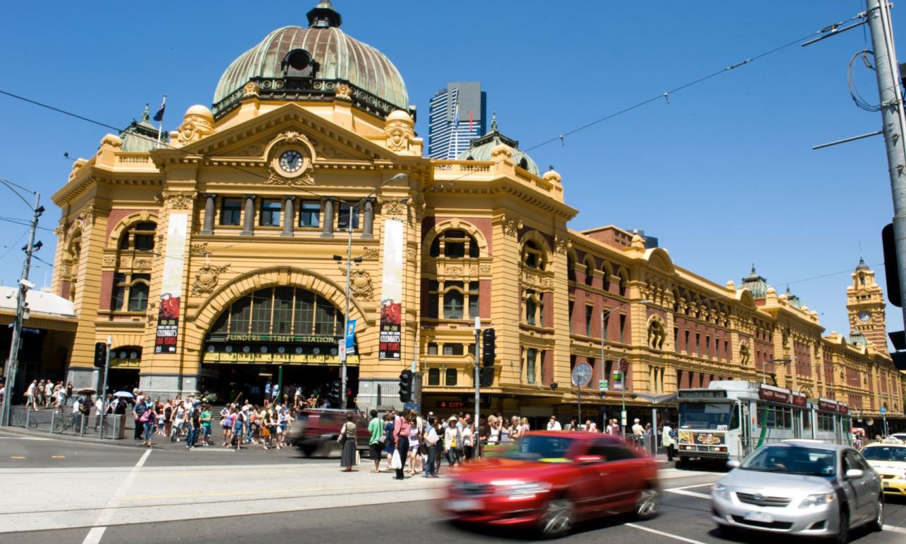 Flinders Street Station, the heart of Melbourne