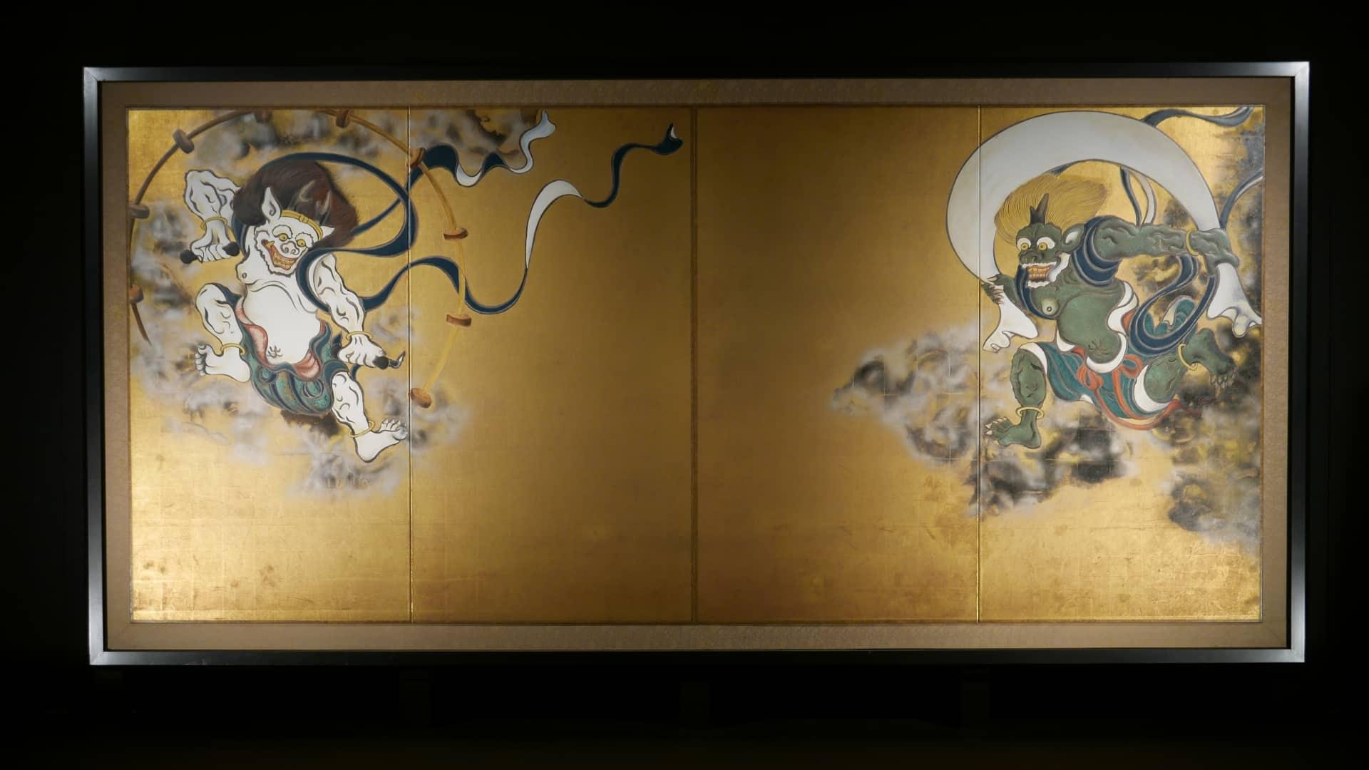 wind and thunder god at kennin-ji temple